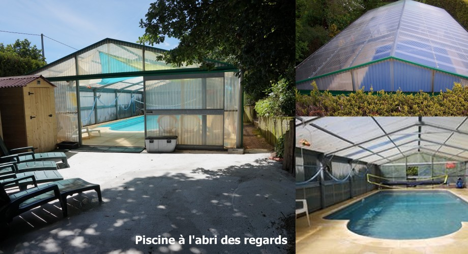 Piscine couverte.